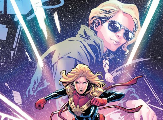 Dettaglio della cover di Captain Marvel: Braver & Mightier #1
