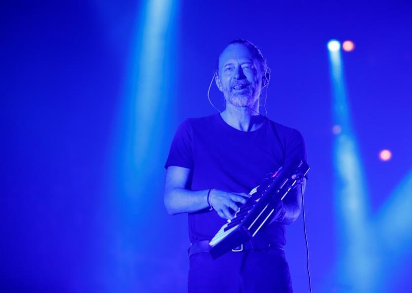 Thom Yorke durante un concerto dei Radiohead