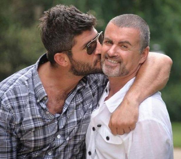 George Michael con l'ex compagno Fadi Fawaz