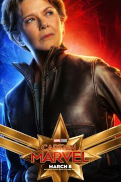 Il character poster di Captain Marvel con Annette Bening