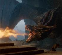 Drogon brucia il Trono di Spade nell'episodio 8x06, The Iron Throne