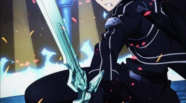 Kirito impugna la potente Dark Repulser