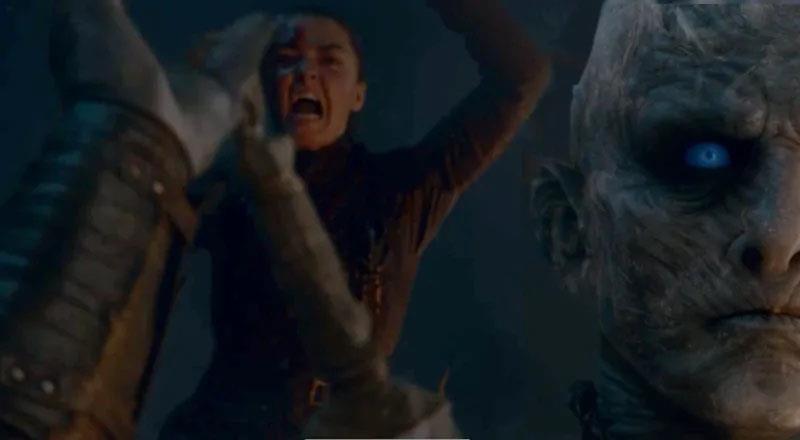Maisie Williams è Arya Stark in Game of Thrones 8