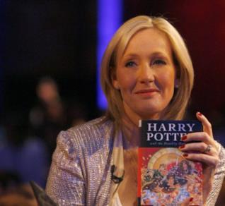 J.K. Rowling alla presentazione de I Doni della Morte