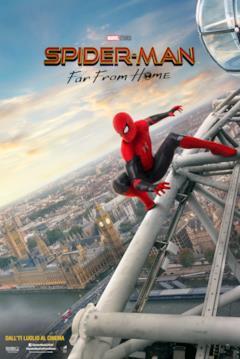 Spider-Man arrampicato sul Londoneye