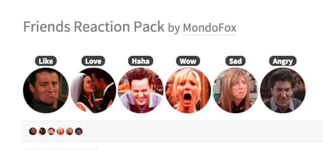 Le Reaction di Facebook con i personaggi di  Friends