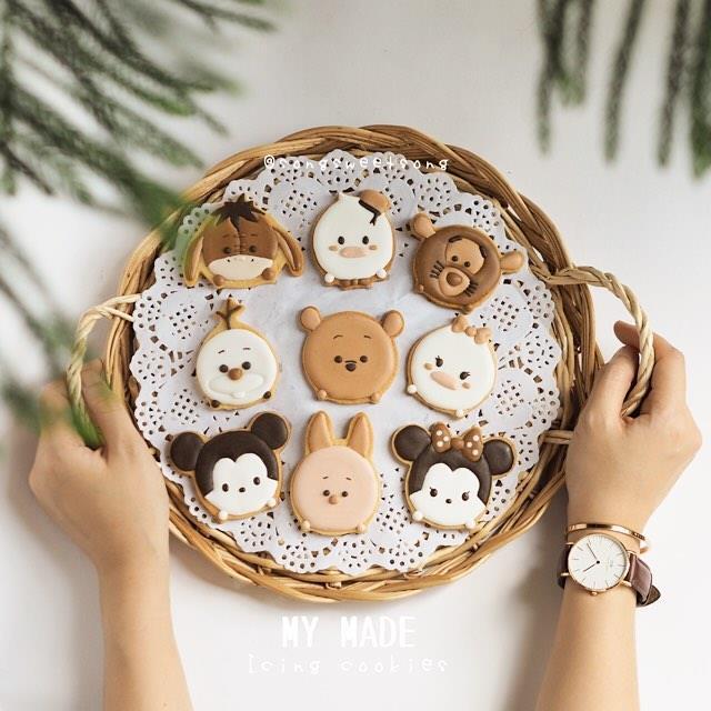 Biscotti disneyani con le fattezze di Topolino, Winnie the Pooh e Olaf di Frozen