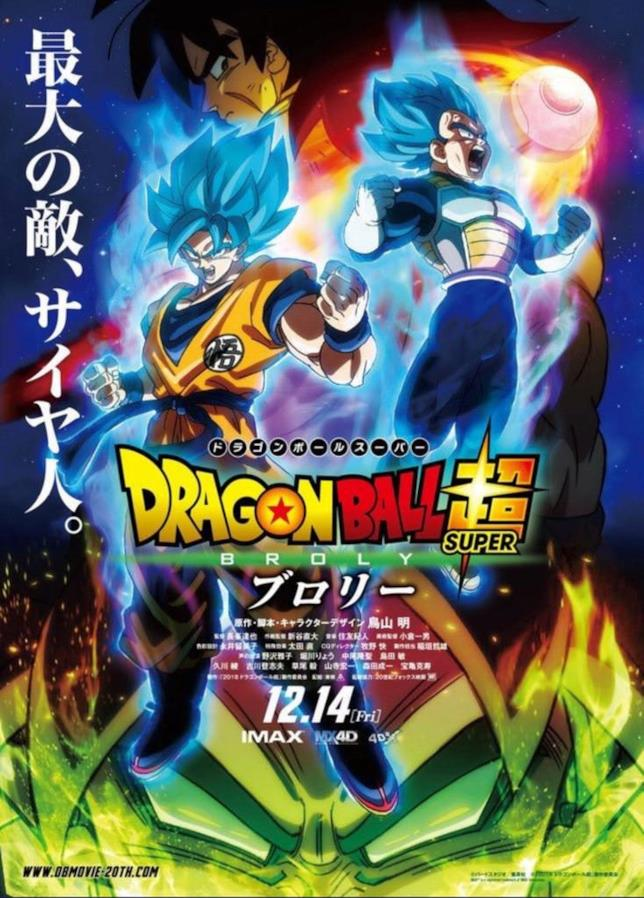 Dragon Ball Super Broly Goku e Vegeta