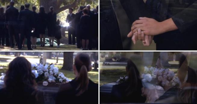 Cristina al funerale di Derek in Grey's Anatomy 11