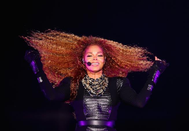 Primo piano di Janet Jackson