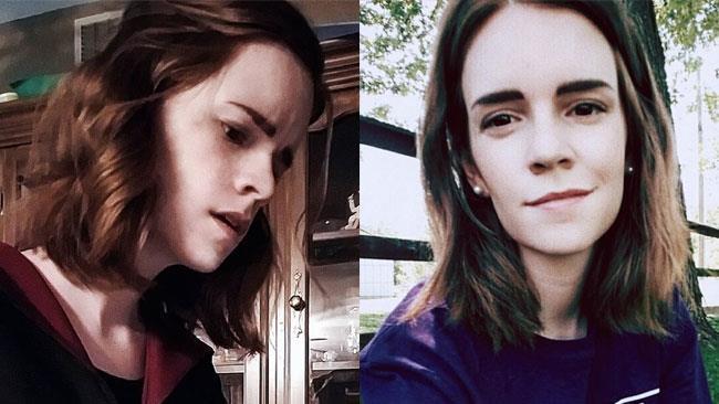 La sosia di Emma Watson in cosplay e in una foto casual
