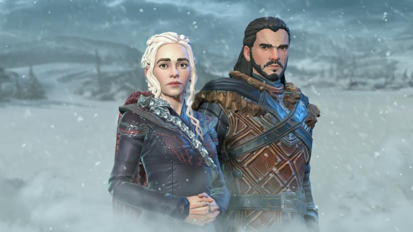 Daenerys Targaryen e Jon Snow in Game of Thrones: Beyond the Wall