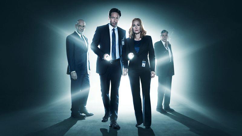 X-Files, David Duchovny e Gillian Anderson in X-Files