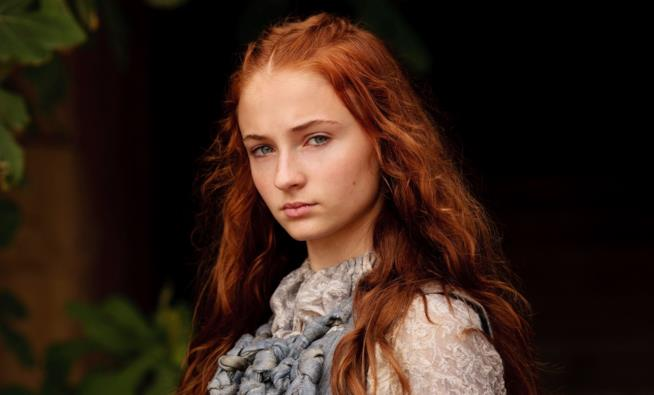 Sophie Turner nei panni di Sansa Stark in Games of Thrones