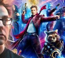 James Gunn e i suoi personaggi in un'immagine