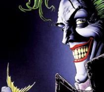 Un primo piano del Joker nei fumetti DC Comics