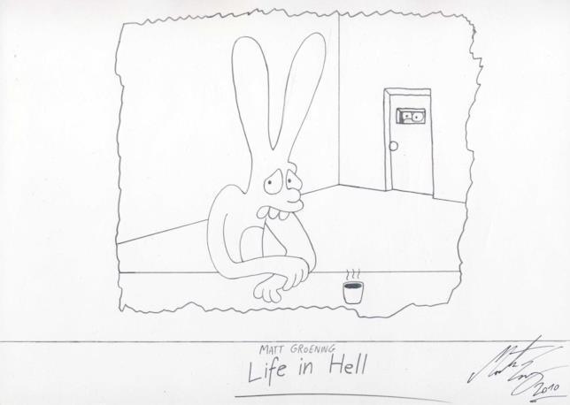 Un disegno di Matt Groening da Life in Hell, celebre fumetto nato dalla mente del creatore dei Simpson