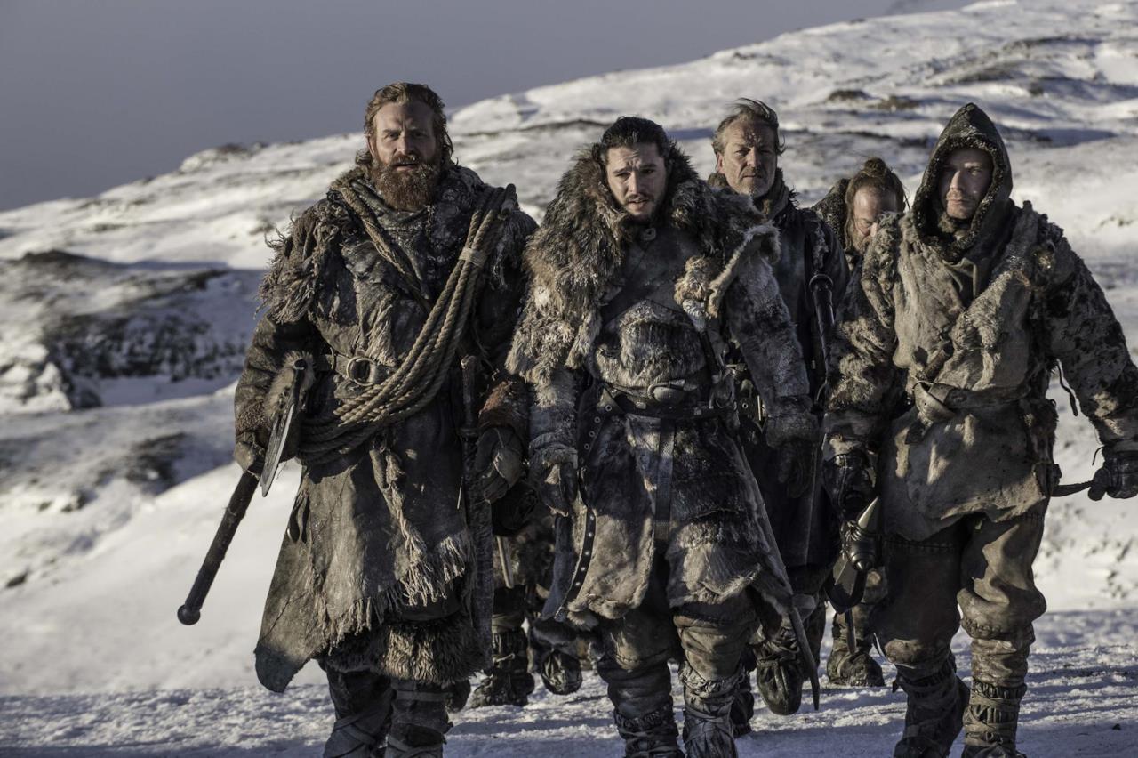 Jon Snow capitana il gruppo di folli oltre la Barriera