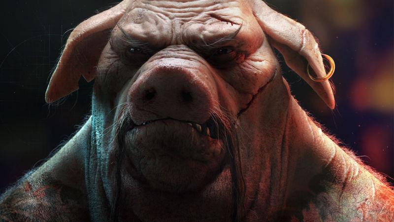 Primo piano per un ibrido umano-animale da Beyond Good & Evil 2