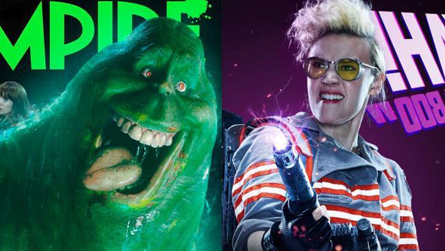 Slimer e Jillian Holtzmann nel reboot di Ghostbusters