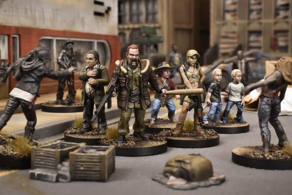 Le miniature del gioco The Walking Dead – All Out War