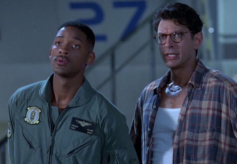 Will Smith e Jeff Goldblum in una scena di Independence Day
