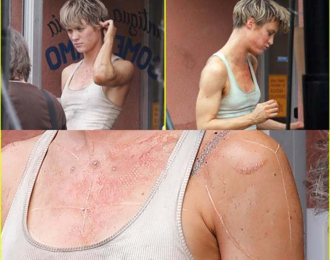 Mackenzie Davis nelle foto di scena dal set di Terminator