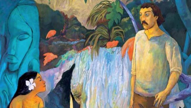 La copertina del fumetto dedicato a Gauguin