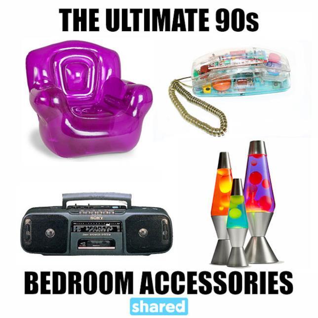 Dal telefono fisso alla poltrona porta-cellulare: gli oggetti anni '90 presenti nella camerette degli adolescenti