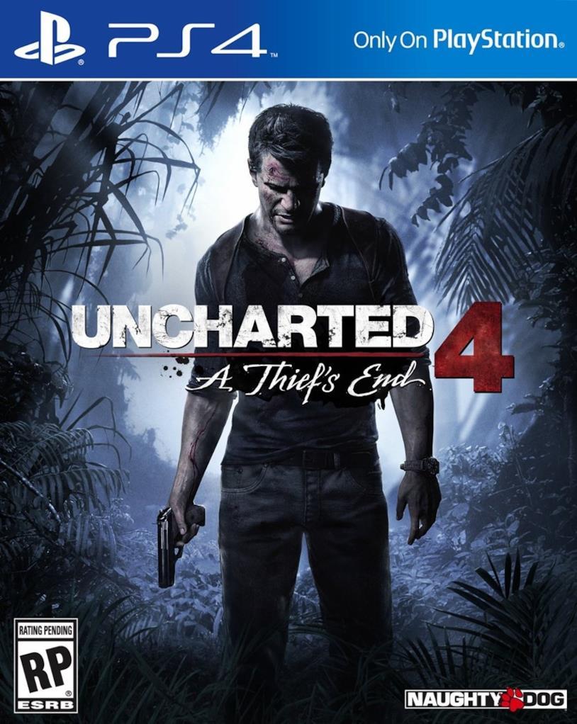 Nathan Drake nella copertina di Uncharted 4