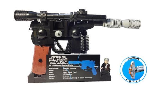 Dettagli del blaster di Han Solo di LEGO
