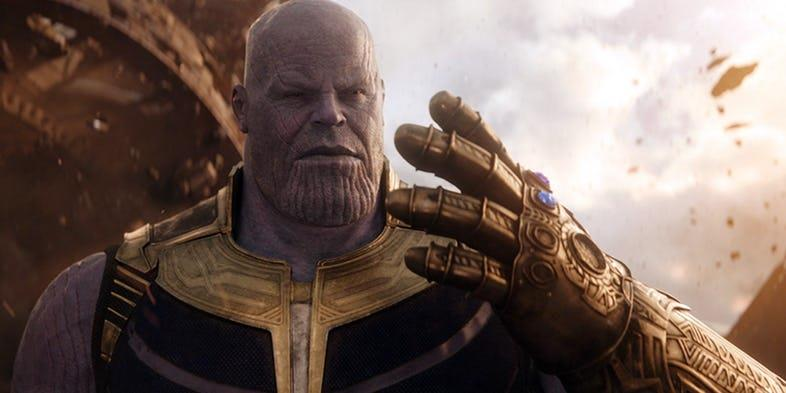 il dio Thanos in Avengers: Infinity War