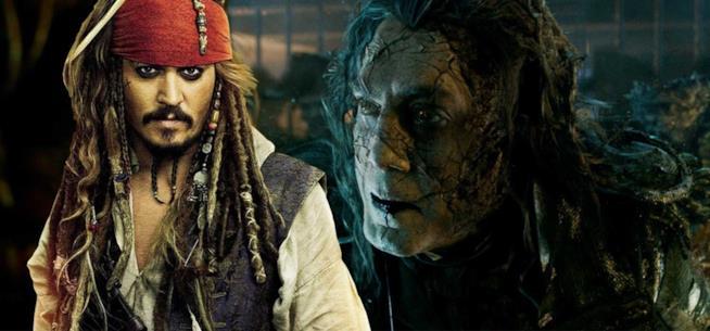 Un collage tra Jack Sparrow e Salazar