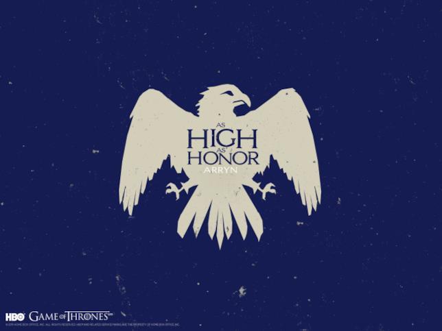 Il motto e lo stemma di Casa Arryn