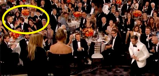 Ryan Gosling e Andrew Garfield si baciano ai Golden Globes