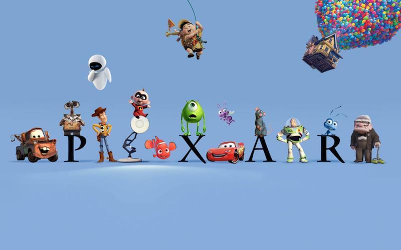 Molti dei protagonisti dei film con il logo Pixar