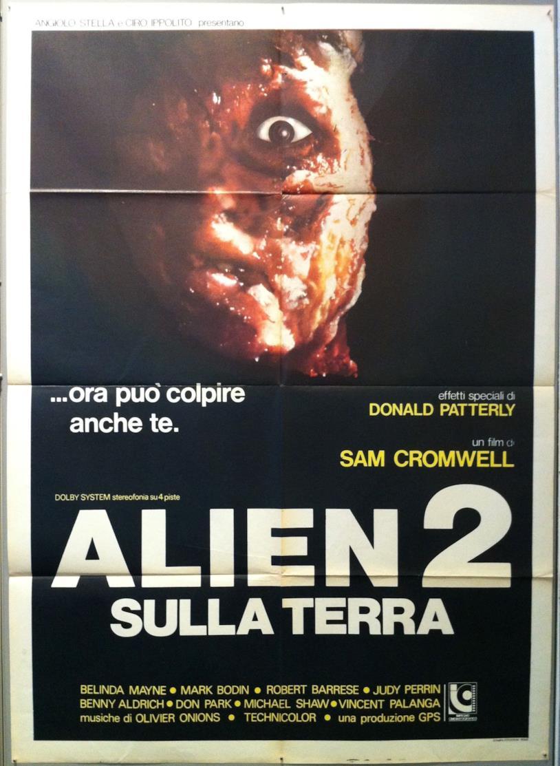 La locandina di Alien 2 sulla Terra
