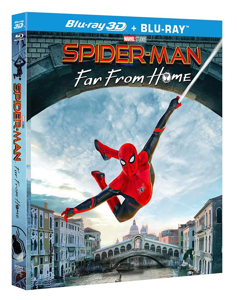 La copertina di Spider-Man: Far From Home in edizione Blu-Ray 3D + Blu-Ray