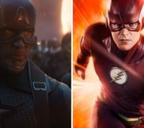 A sinistra Capitan America e a destra Flash della serie TV omonima