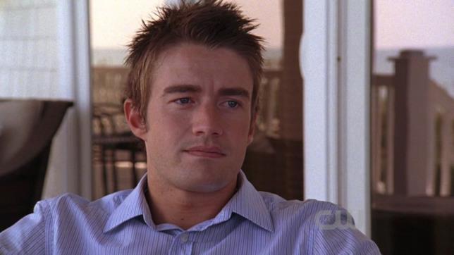 L'attore Buckley nei panni di Clay in una scena di One Tree Hill