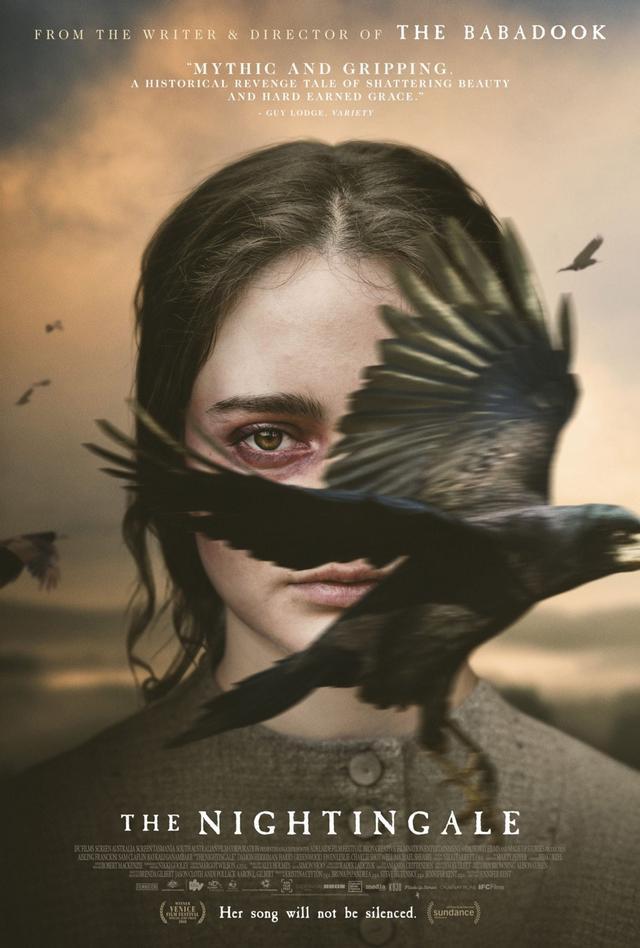 Aisling Franciosi al centro del poster ufficiale di The Nightingale