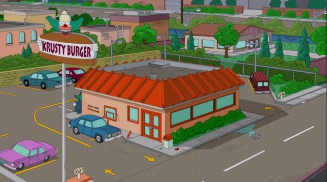 La sede del Krusty Burger