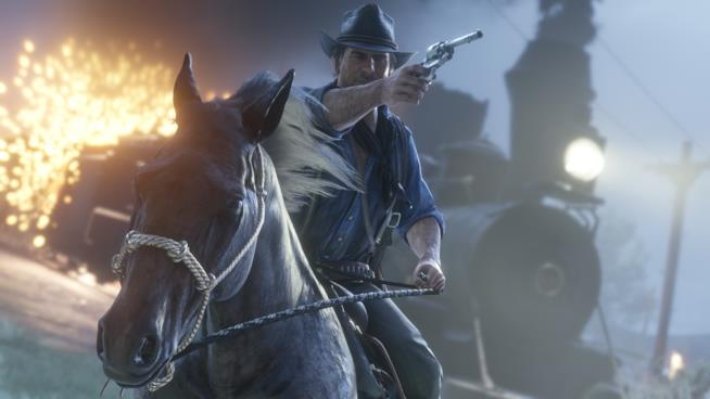 Arthur Morgan a cavallo in Red Dead Redemption 2