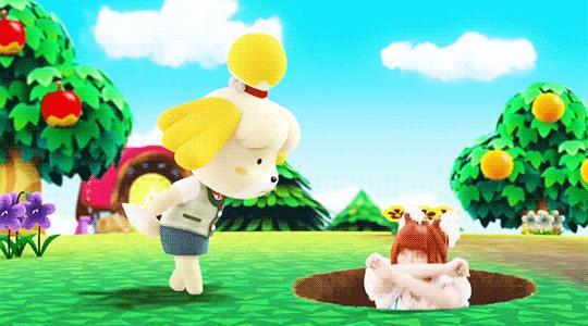 Una scena in GIF del trailer di Animal Crossing Pocket Camp