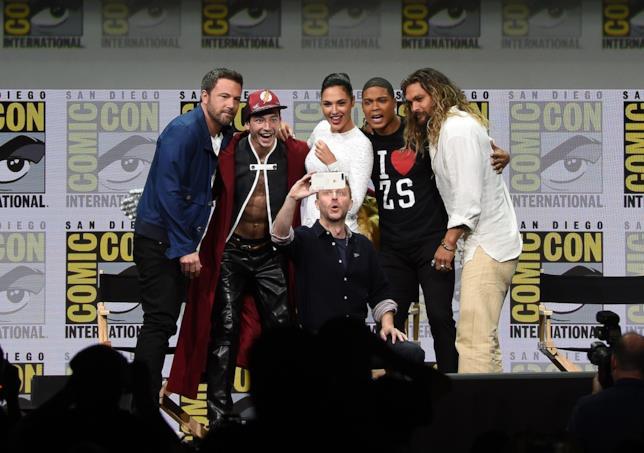 I protagonisti di Justice League al Comic-Con di San Diego