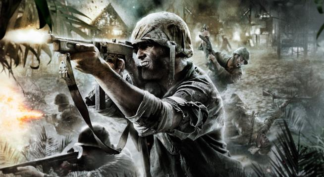 Alcuni soldati cobattono in Call of Duty: WWII