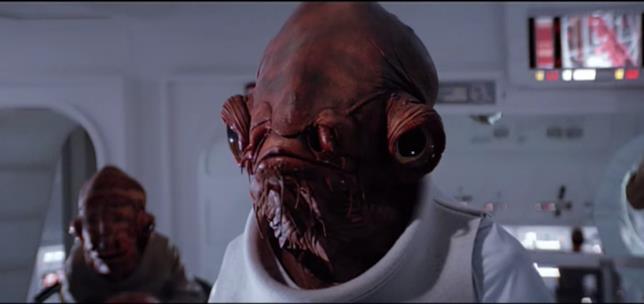 Ackbar, Ammiraglio ribelle del Ritorno dello Jedi