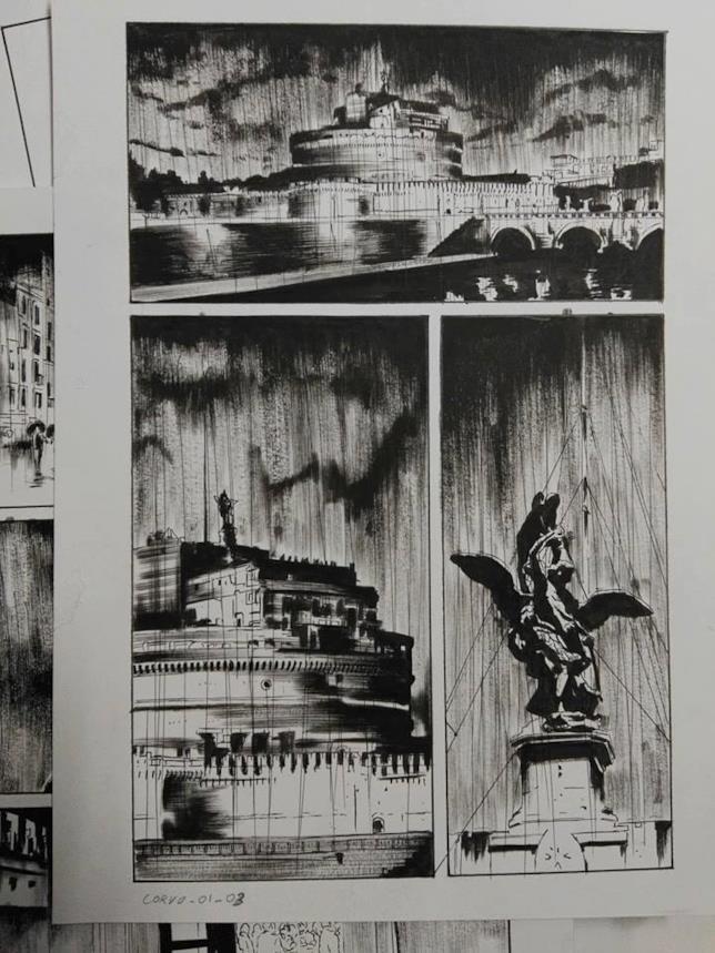 Roma fa da sfondo alla miniserie a fumetti dedicata al Corvo