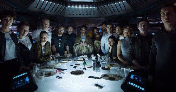 Una scena collettiva del prologo di Alien: Covenant
