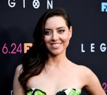L'attrice Aubrey Plaza